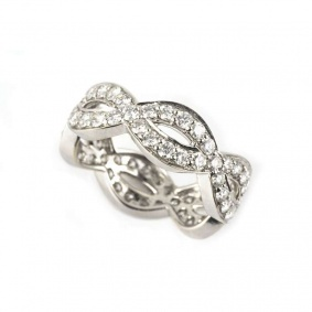 18k White Gold Round Brilliant Cut Diamond Dress Ring 2.06ct H/VS1 RD1333B